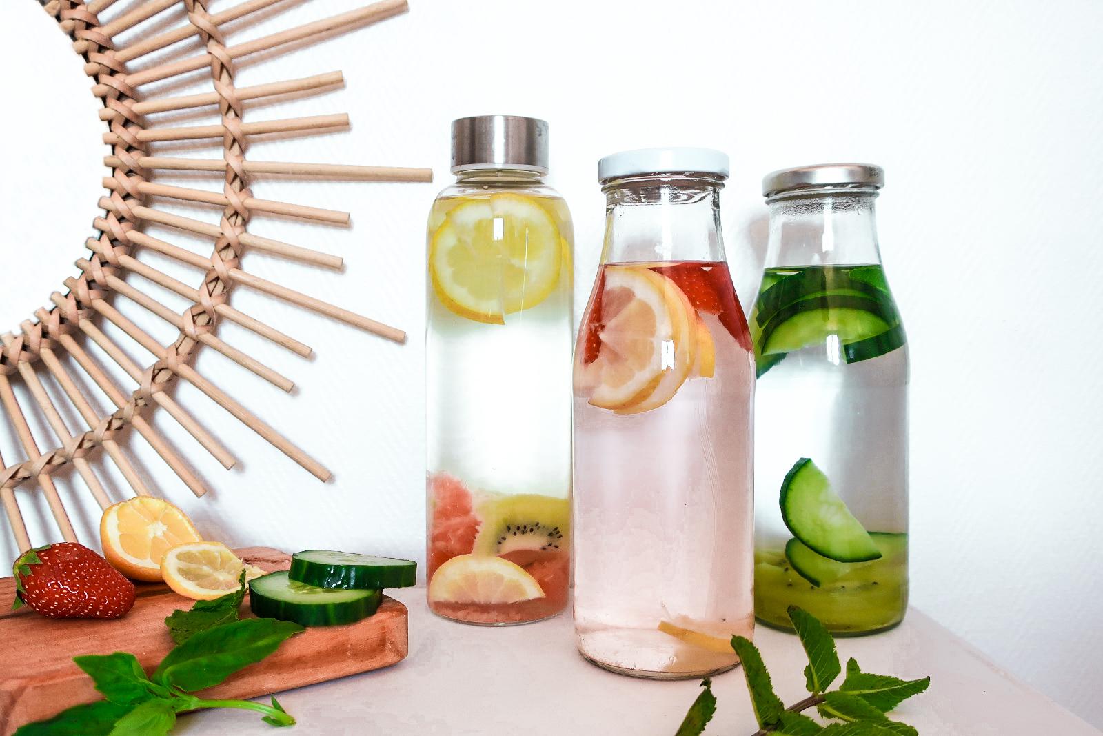 Recettes eaux aromatisées healthy