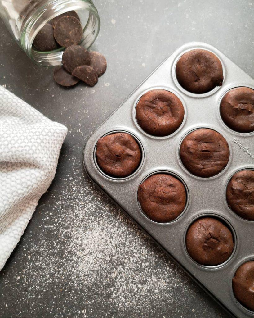 mes favoris recettes : mini gâteaux au chocolat sans sucre