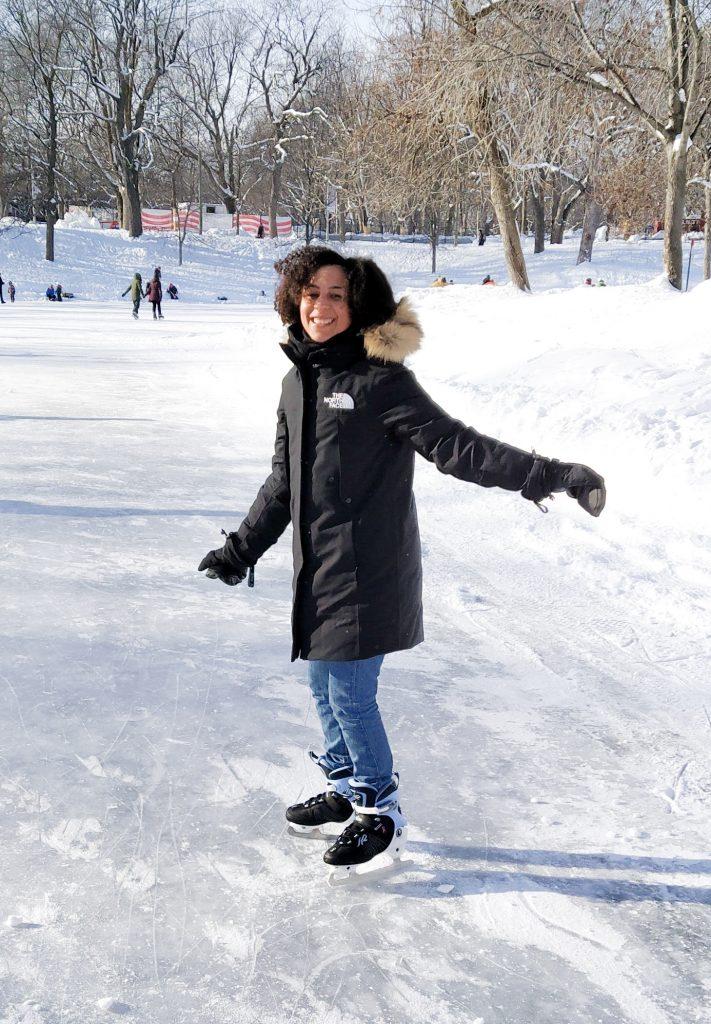 mes favoris activité : patinage hivernal